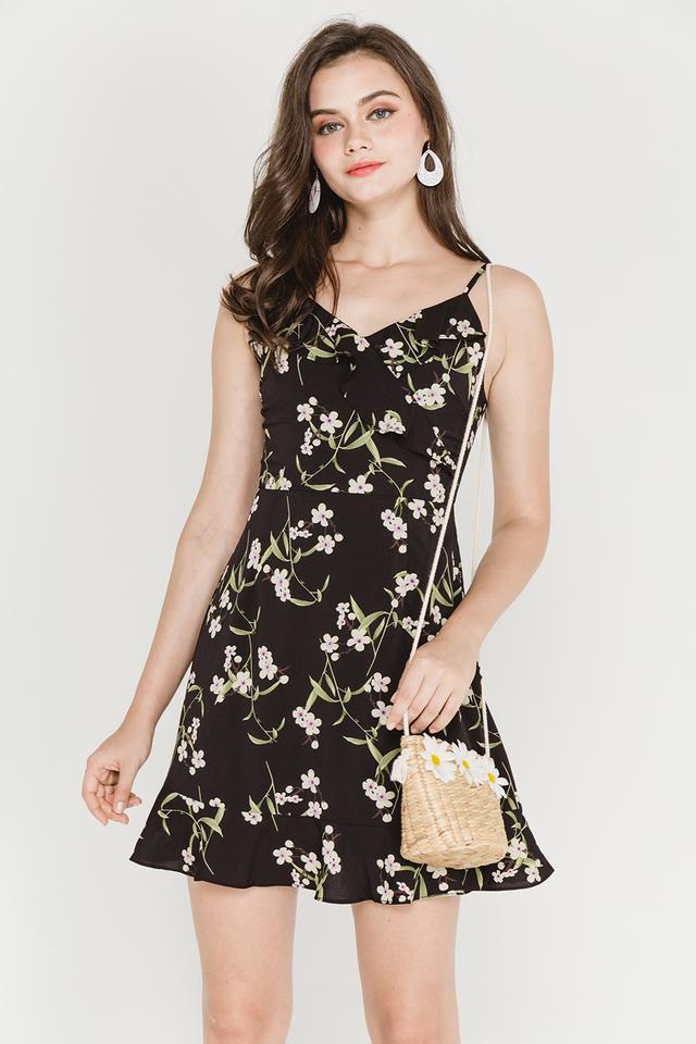 Meera Dress Black Floral