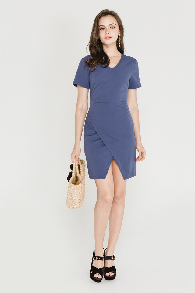 Paulette Dress Ash Blue