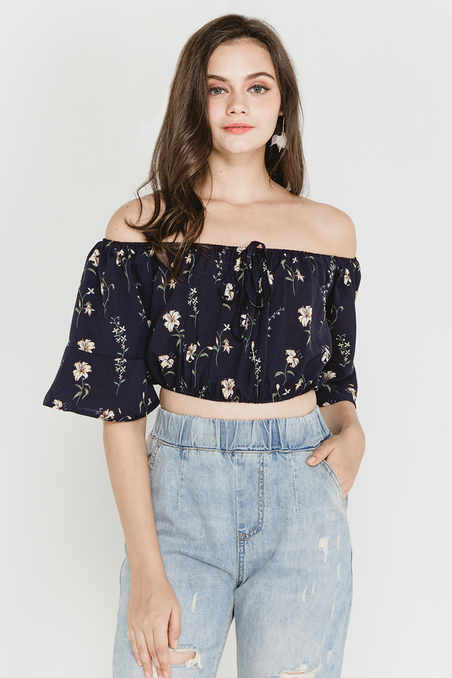 Jensen Top Navy Floral