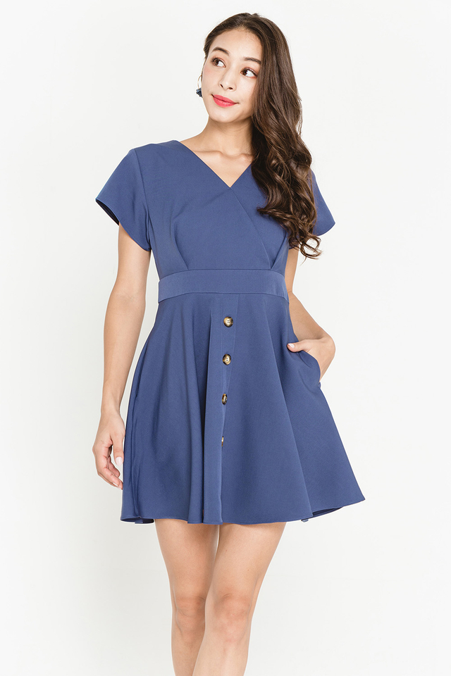 Leda Dress Ash Blue