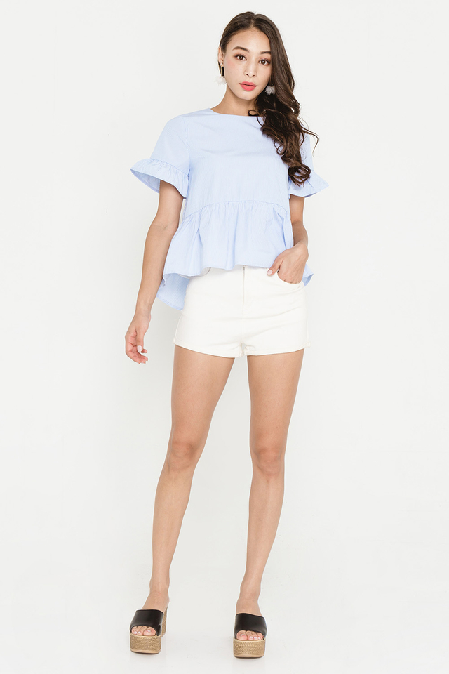 Elida Top Blue Stripes