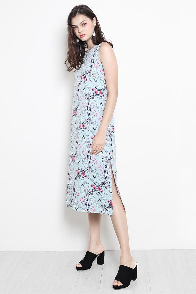 Tara Dress Mint Floral