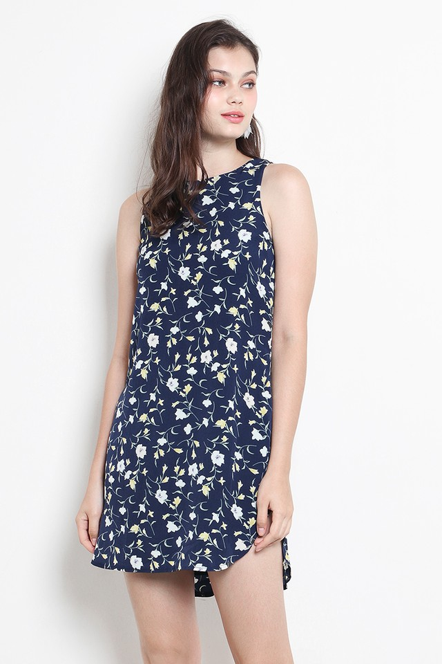Andie Dress Navy Floral