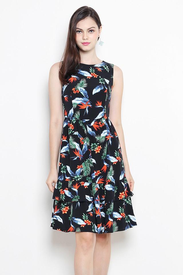 Brisa Dress Black Floral