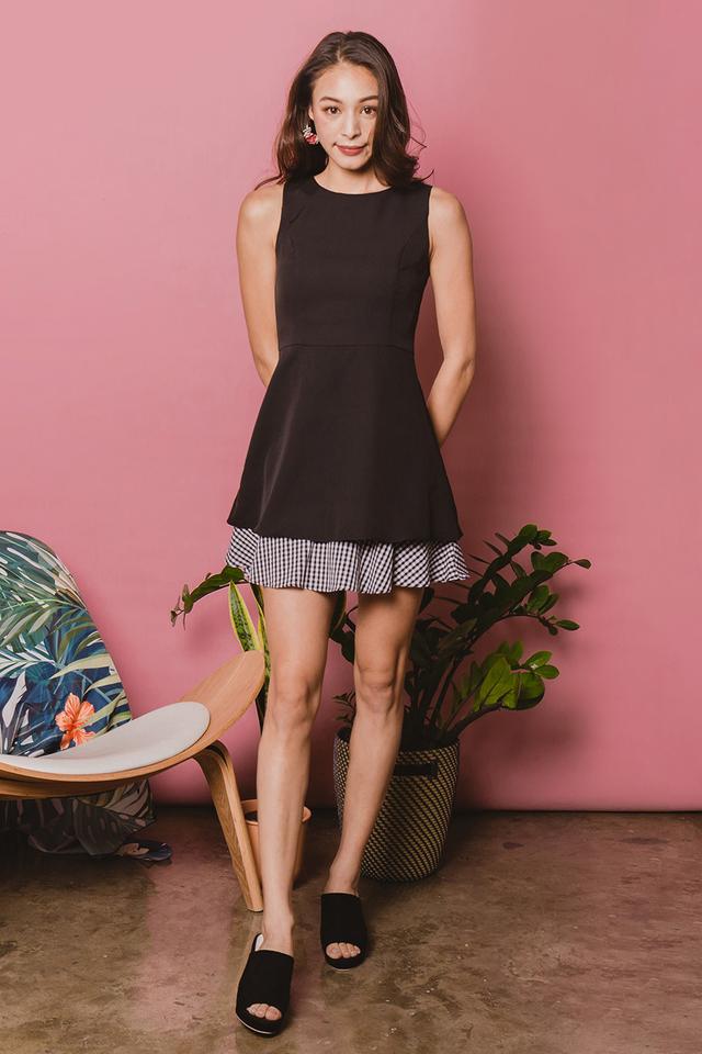 Lidia Dress Black Gingham