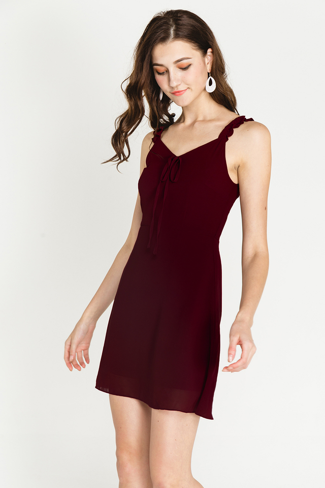 Arin Dress Burgundy