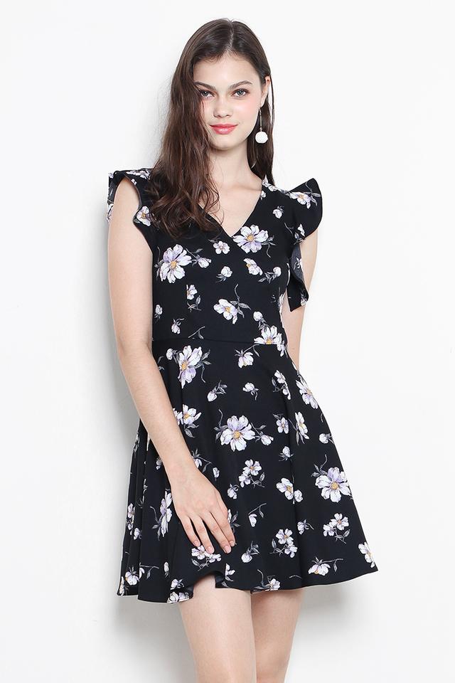 Luann Dress Black Floral
