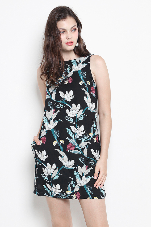 Dena Dress Black Floral