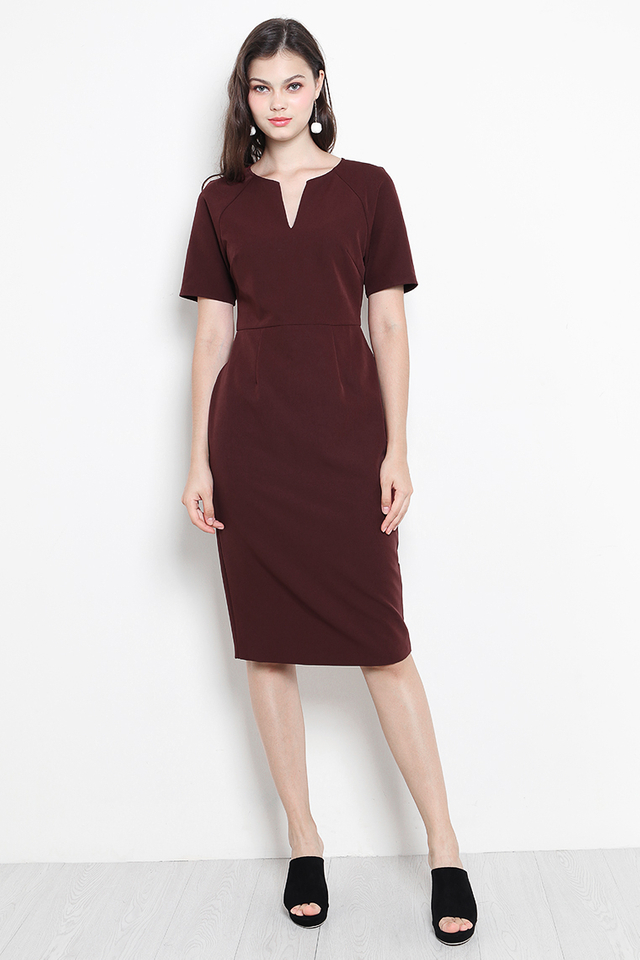 Jaida Dress Maroon