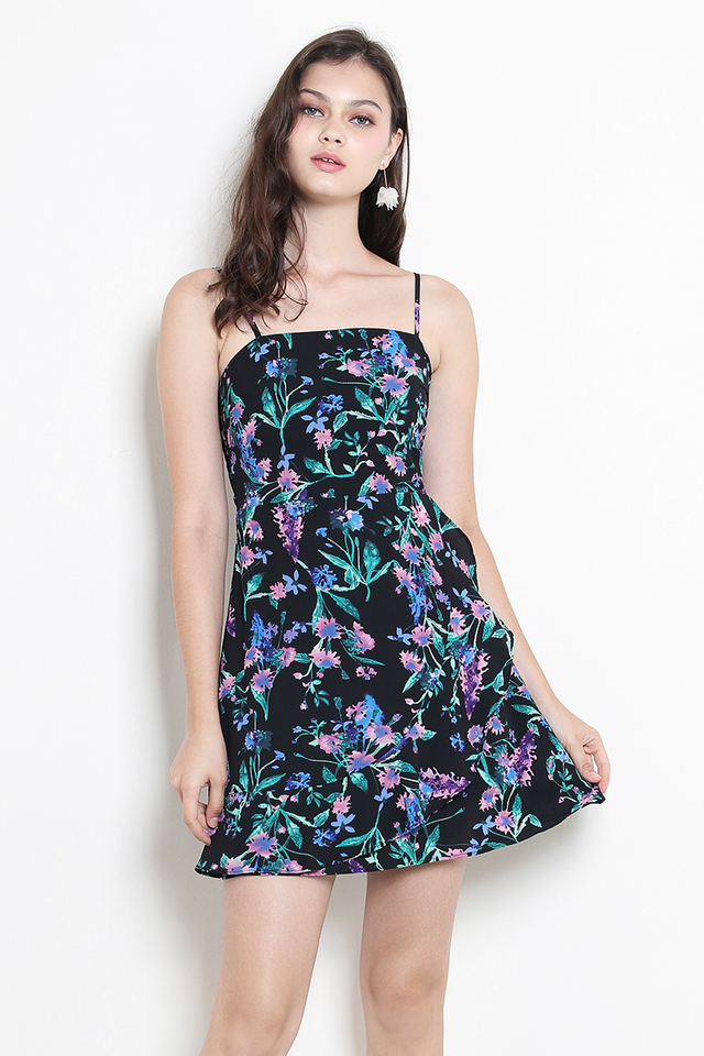 Evelina Dress Black Floral