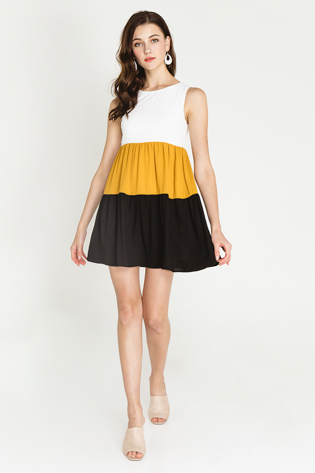 Bria Colourblock Mustard/Black