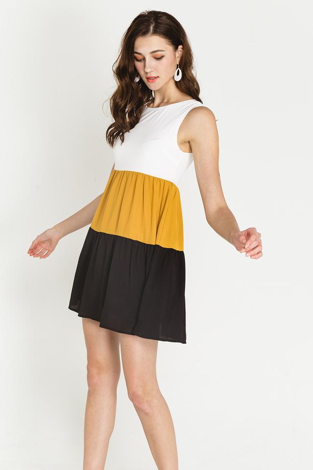 Bria Colourblock Mustard/Black
