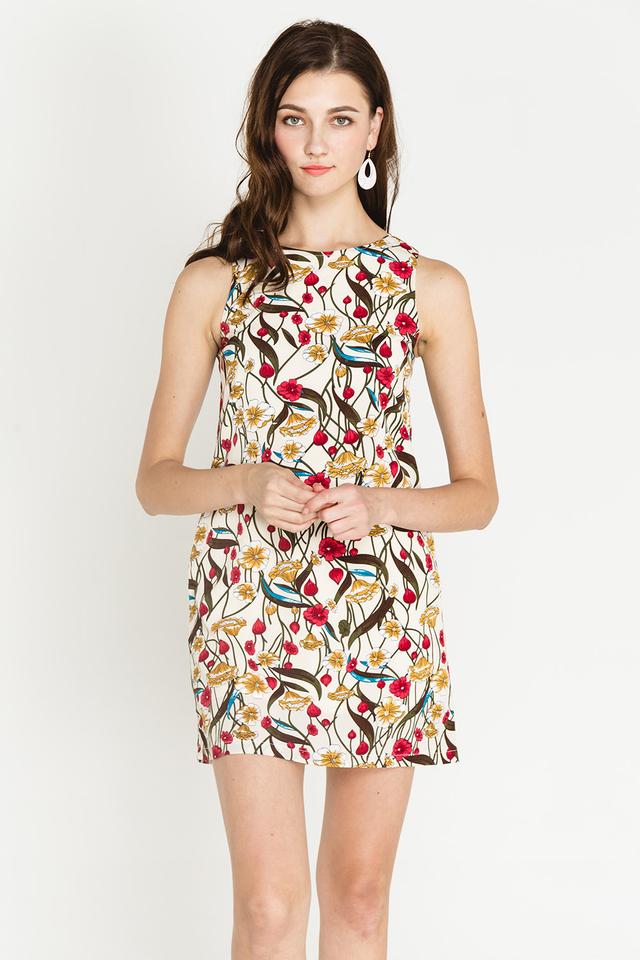 Lenore Dress Creme Floral