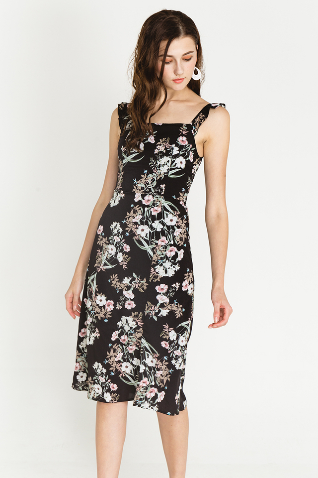 Clary Dress Black Floral