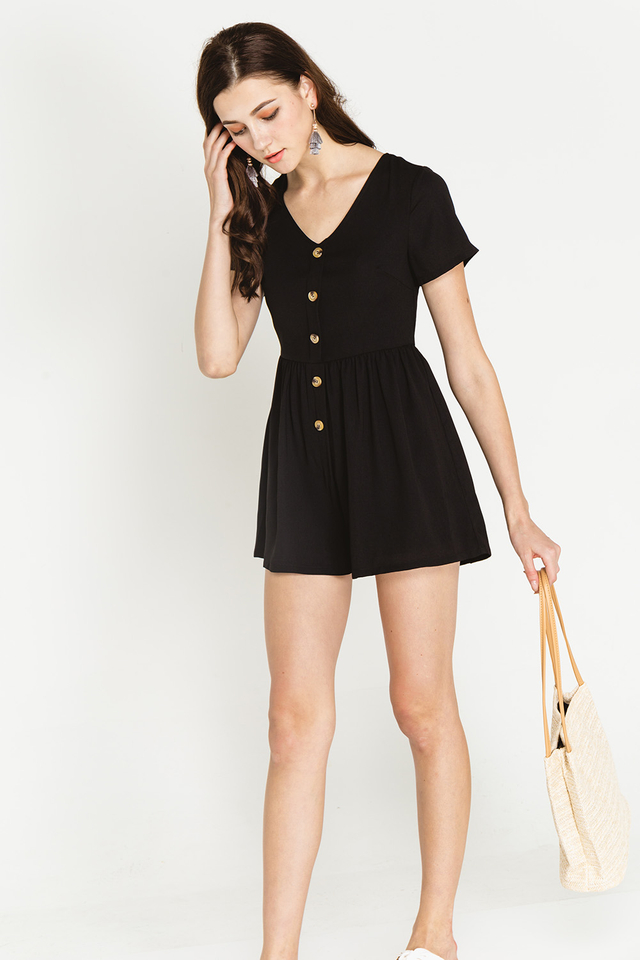 Charley Playsuit Black
