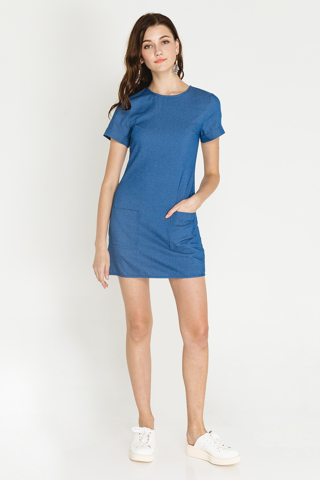Elektra Denim Dress Medium Wash