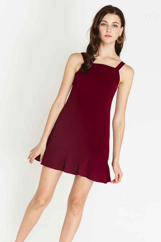Yelena Dress Burgundy