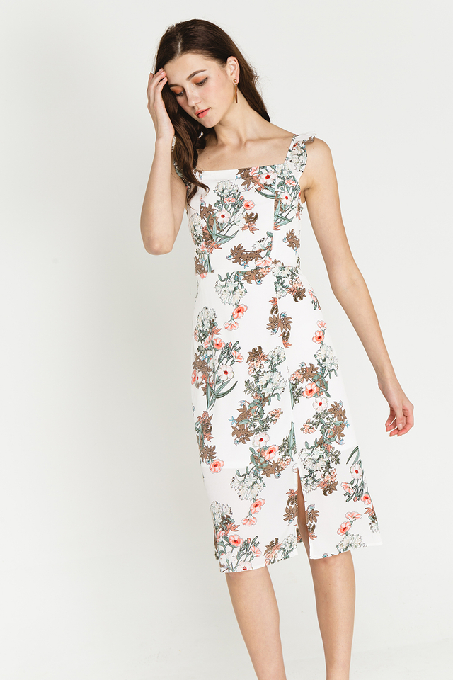 Clary Dress White Floral