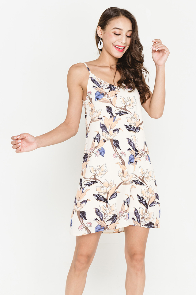 Esmay Floral Dress Almond