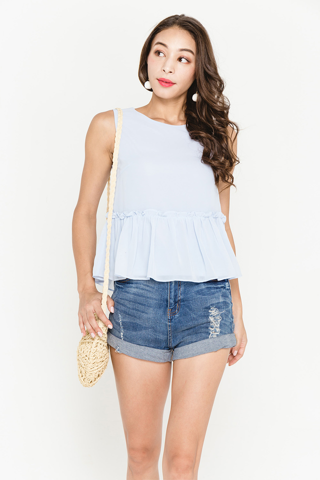 Allegra Top Light Blue