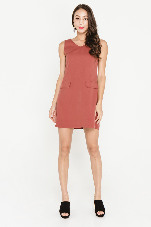 Sheridan Dress Terracotta