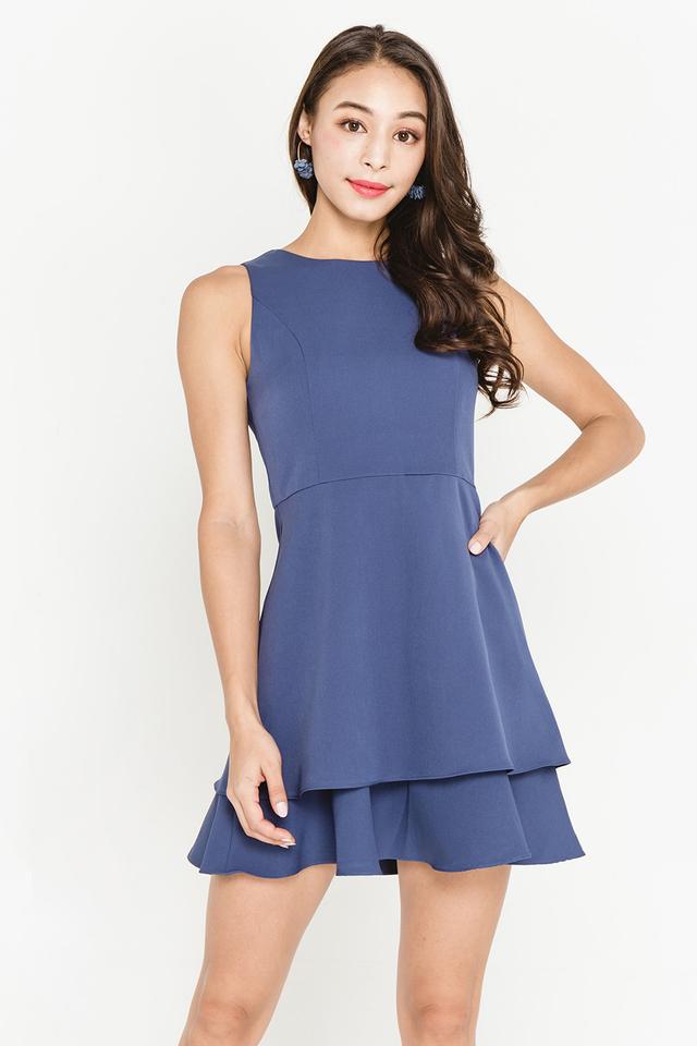 Lidia Dress Ash Blue