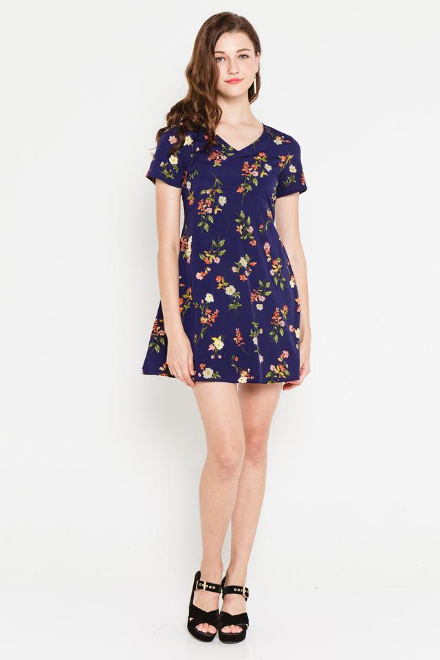 Reanna Dress Navy Floral