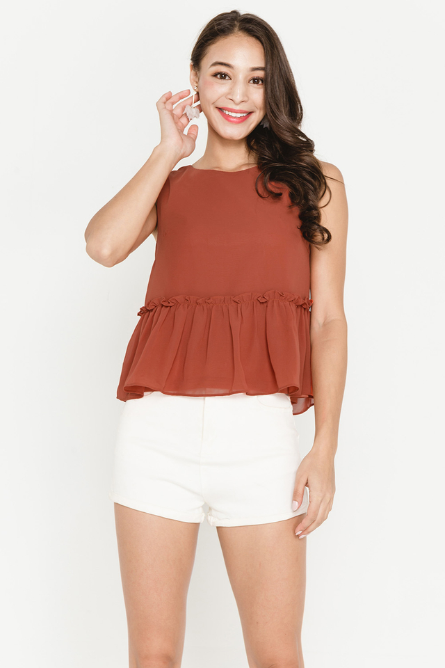Allegra Top Burnt Orange