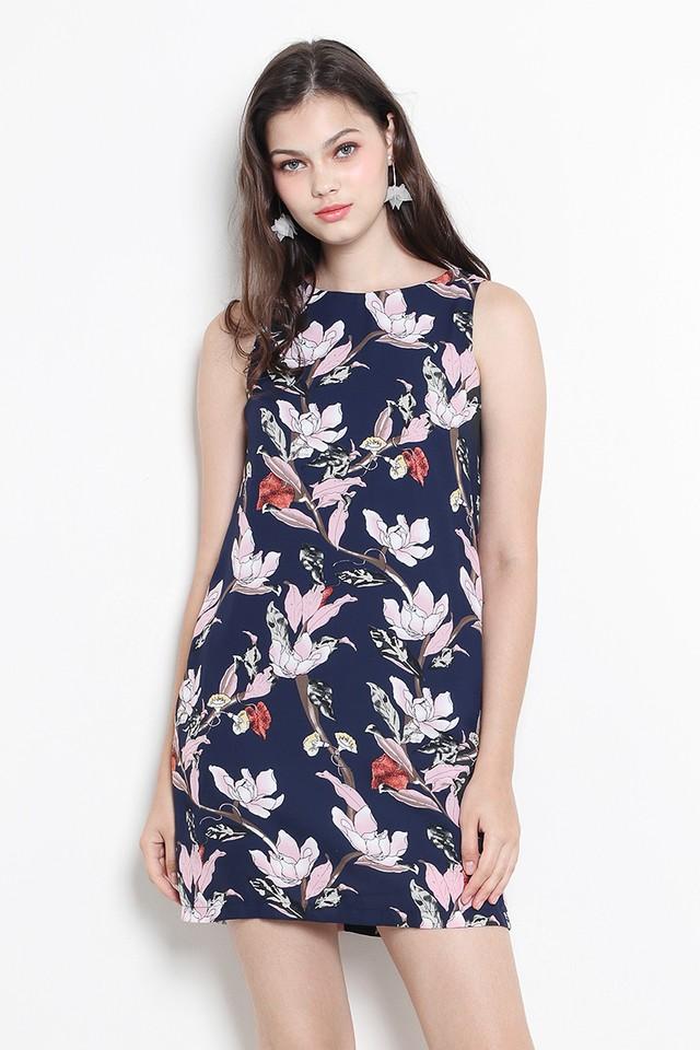 Dena Dress Navy Floral