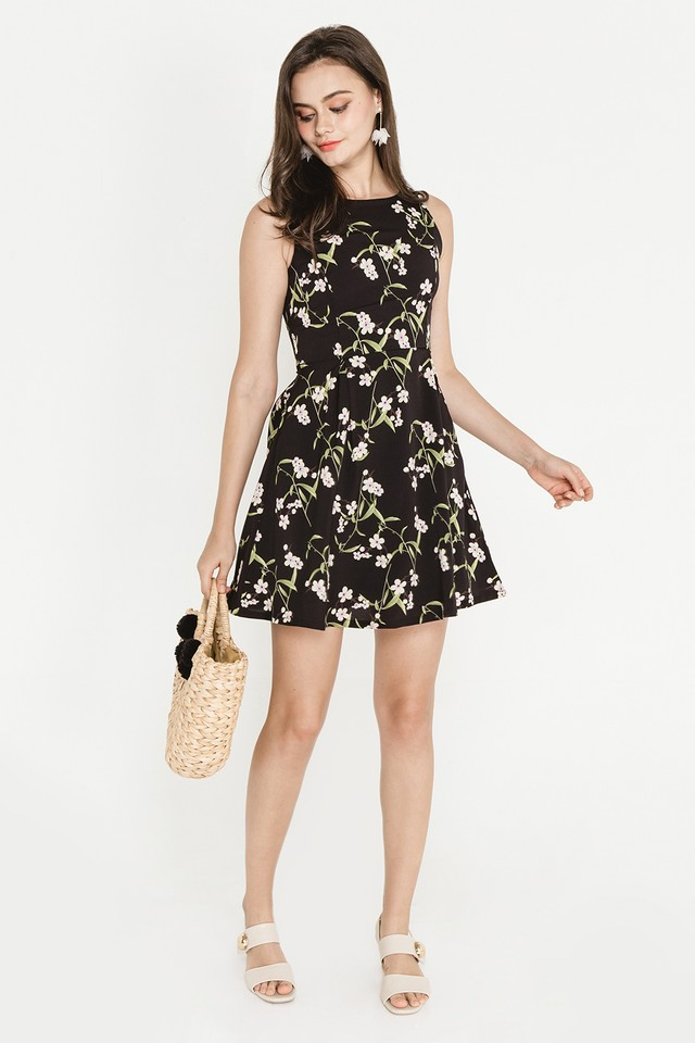 Bronwen Dress Black Floral