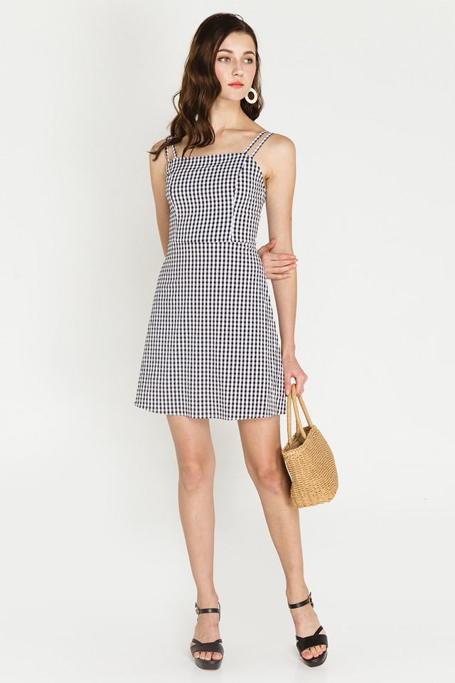 Herbie Dress Black Gingham