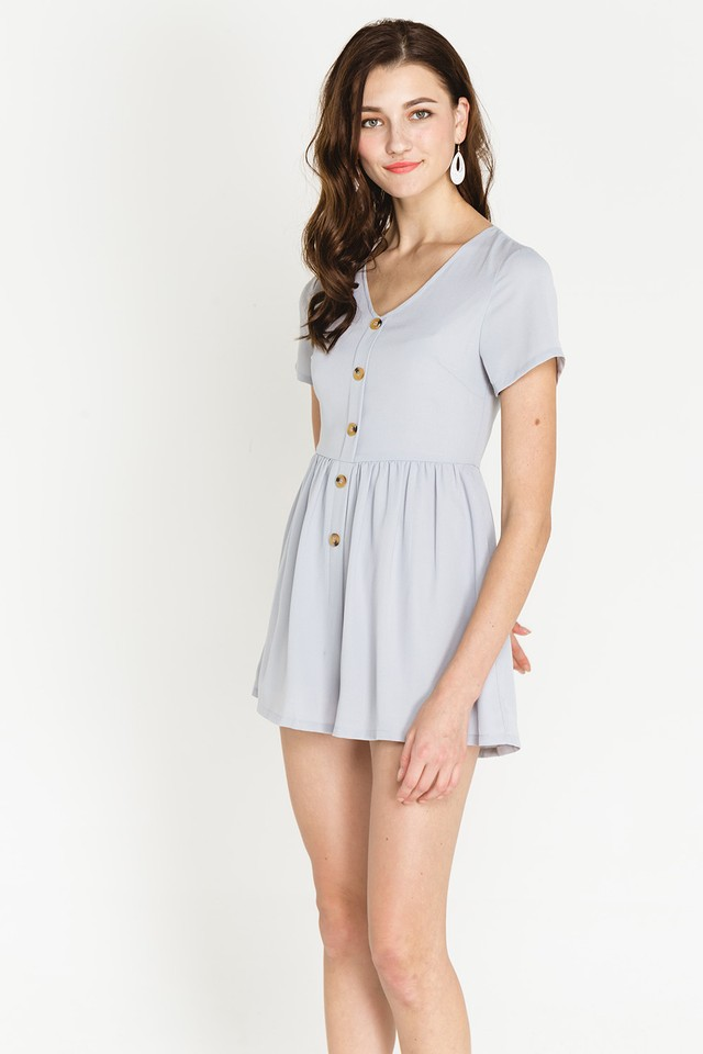 Charley Playsuit Grey Blue