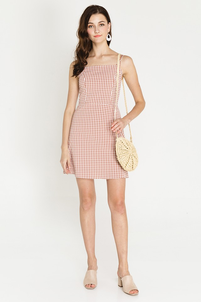 Herbie Dress Blush Gingham