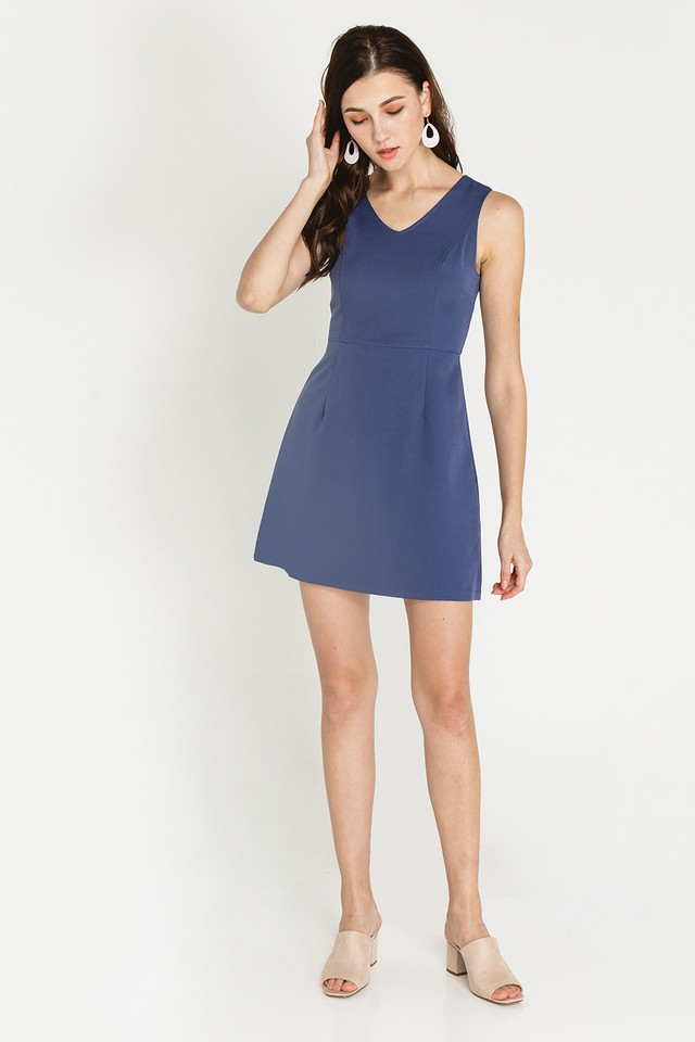 Martine Dress Ash Blue
