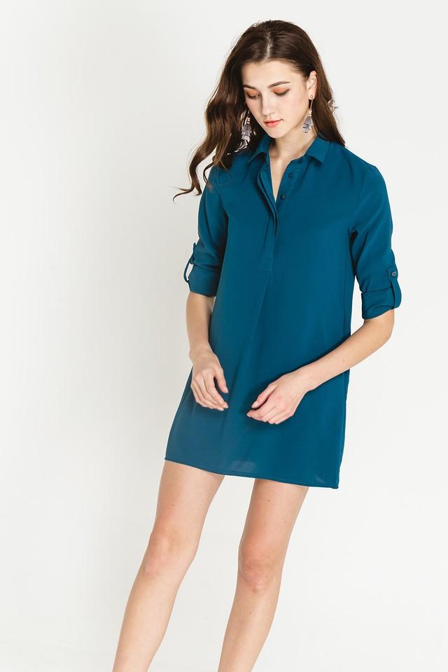 Ondine Shirtdress Emerald