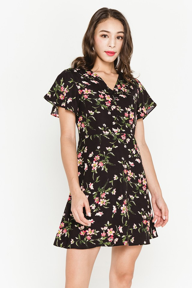 Torin Dress Black Floral
