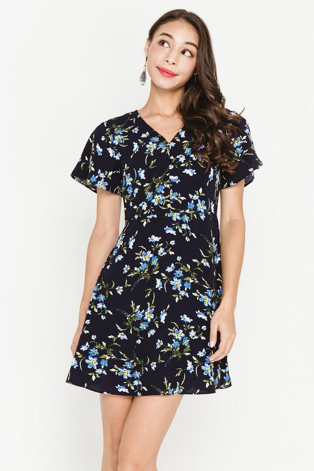 Torin Dress Navy Floral