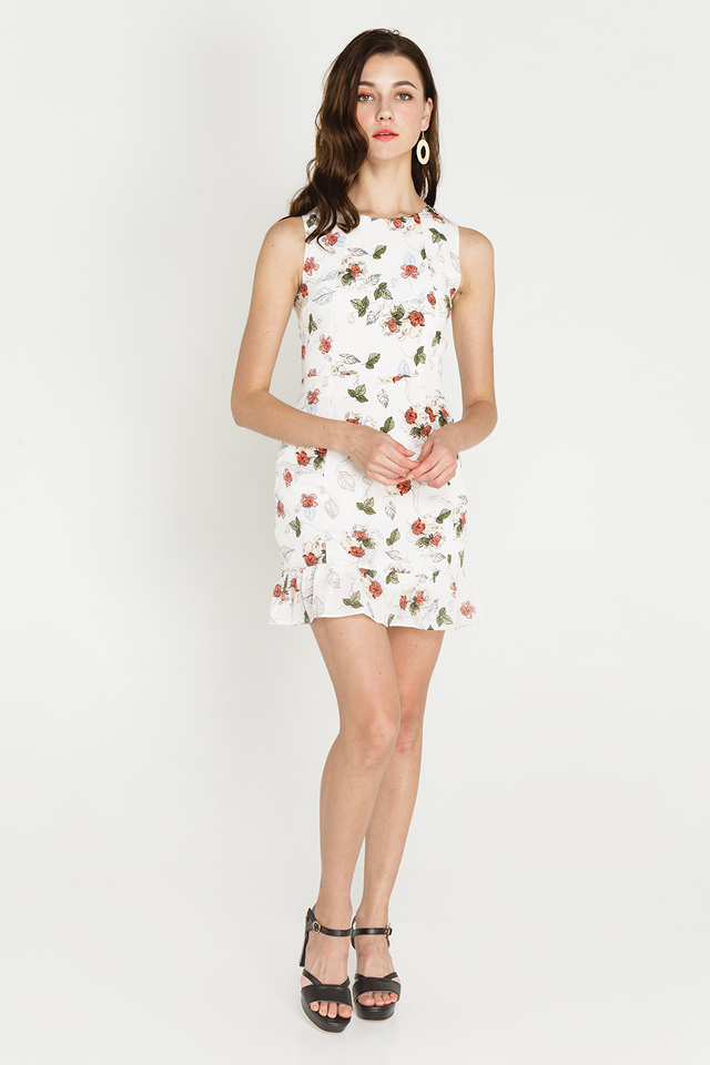 Derica Dress White Floral