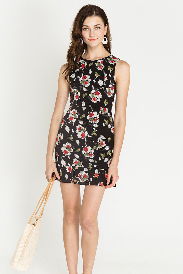 Derica Dress Black Floral