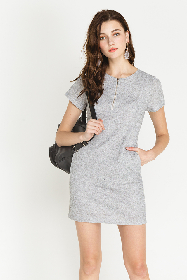 Arizona Dress Grey Tweed