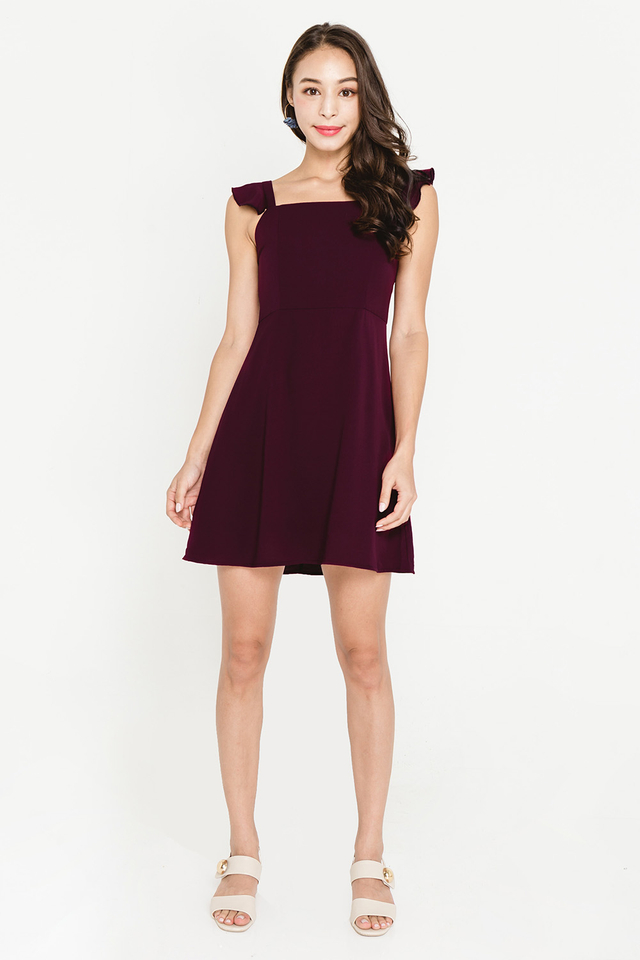 Darcey Dress Burgundy
