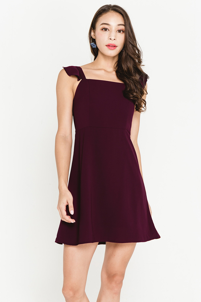 Darcey Dress Burgundy