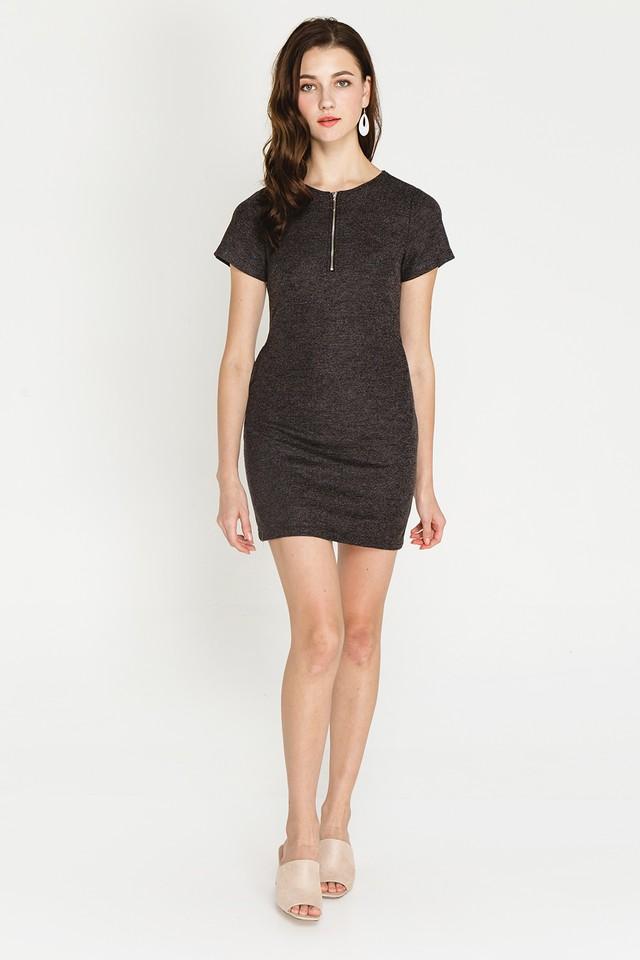 Arizona Dress Black Tweed