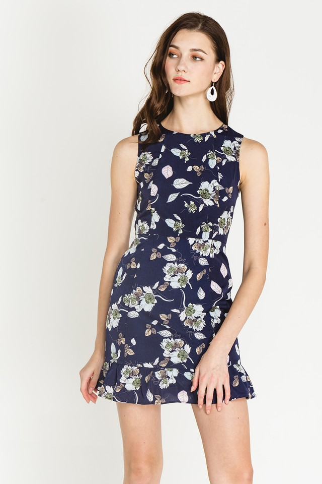 Derica Dress Navy Floral