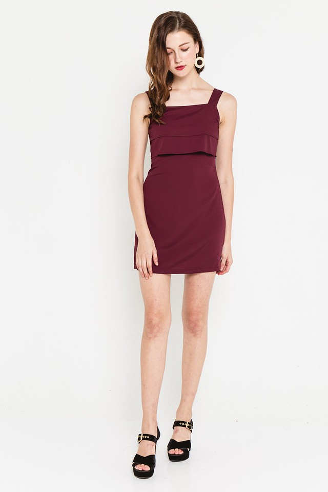 Wanda Dress Burgundy
