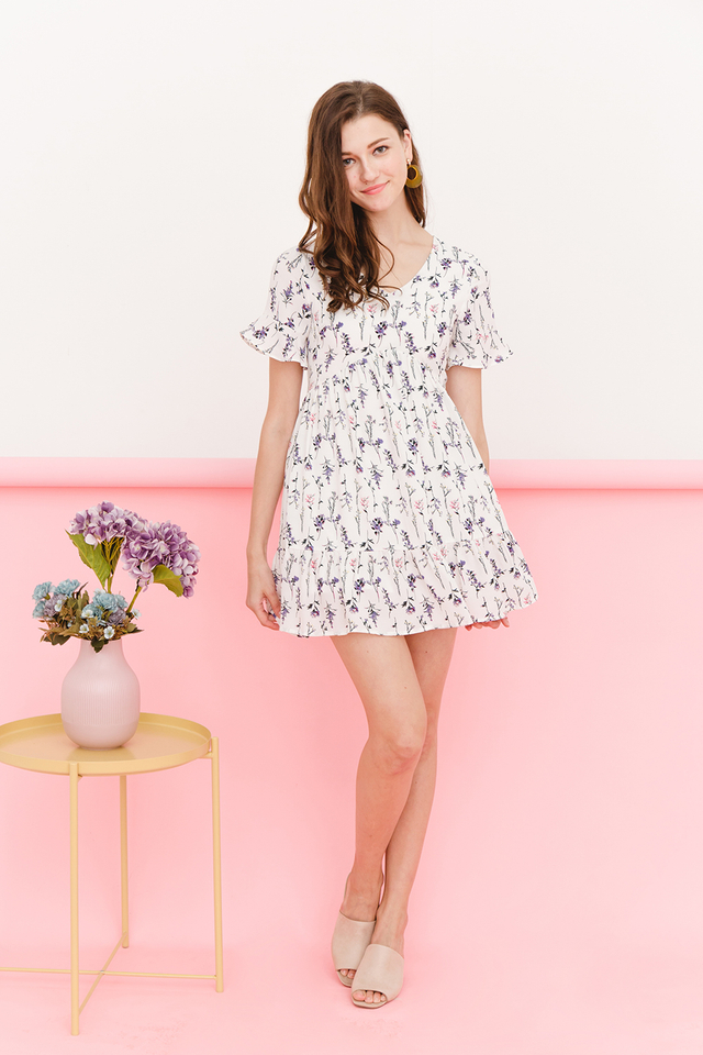 Taddie Dress White Floral