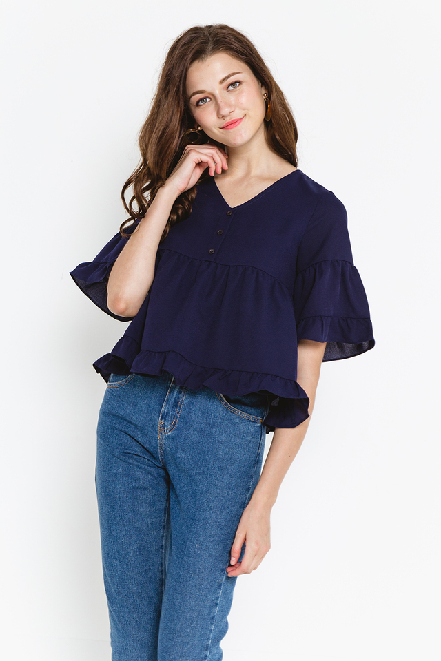 Heather Top Navy