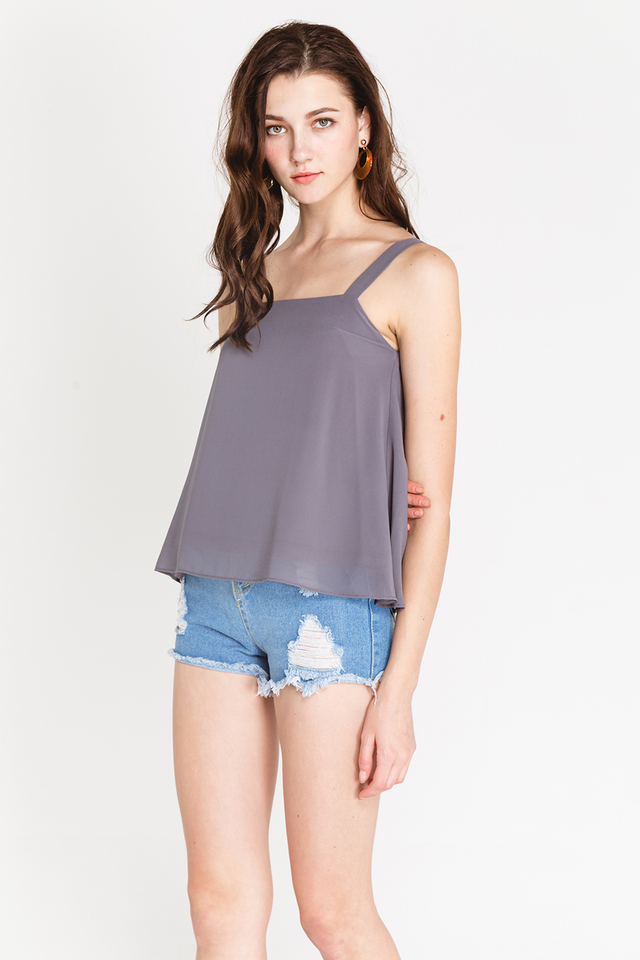 Chenille Top Grey