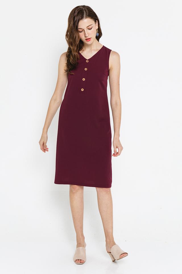 Shaelyn Dress Burgundy