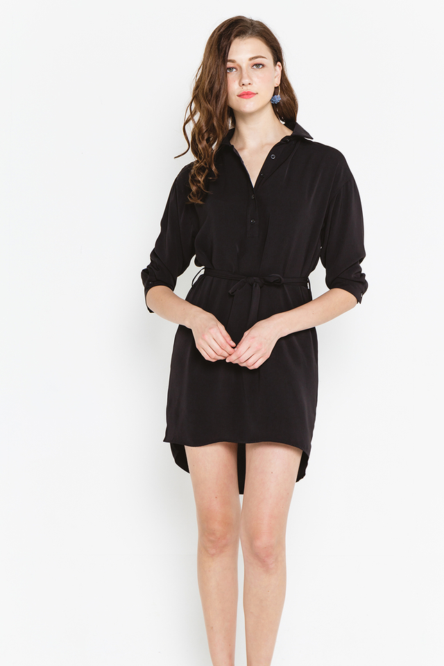 Landen Shirtdress Black